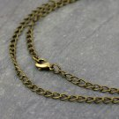 1pc Antique Bronze Curb Link Chains Necklace Blank Necklace 6x4mm cn210-18""