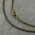 """1pc 2.2mm Antique Bronze Link Cable Chain Necklace Blank Necklace cn217b-24"""""""
