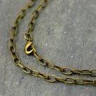 1pc Antique Bronze Belt Link Cable Chain Necklace 6.8x3.8mm cn222b-24