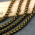 Vintage Style Chain Plated Wheat Rope Chain Necklace 3.5mm c204b(4ft)