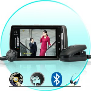 Bluetooth Spy DVR Clip-On Surveillance Set + Media Player (2GB)