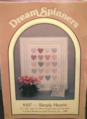 Dream Spinners Simply Hearts Wall Quilt Pattern