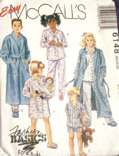 Pajamas Robe Pattern M 6148 - FREE SHIPPING