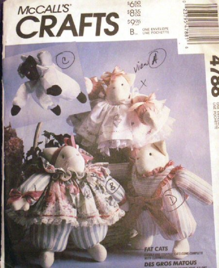 Fat Cats by Faye Wine M 4788 - FREE SHIPPING
