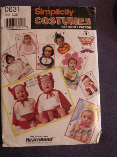 Costume Pattern Infants S 0631 - FREE SHIPPING