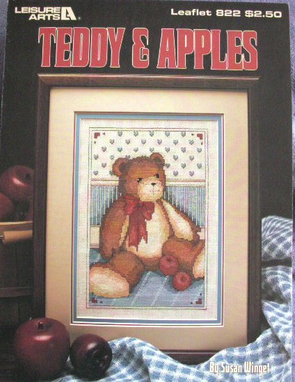 Cross Stitch Teddy & Apples Leaflet