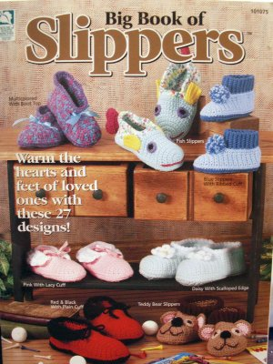 Crochet Slippers - Ribbed House-Slippers