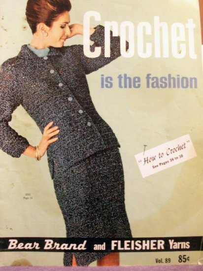 VINTAGE Bear Brand & Fleisher Yarns Crochet Book Vol. 89 - FREE SHIPPING