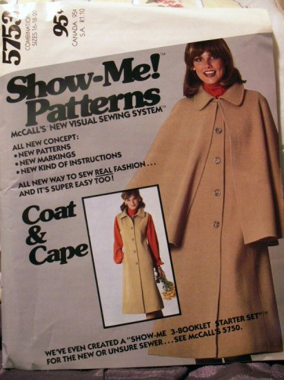"McCall's ""Show-Me!"" Pattern M5753 - FREE SHIPPING"
