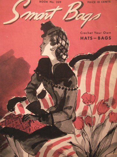 1944 Hat's & Bag's Crochet Patterns Booklet-The Spool Cotton Company