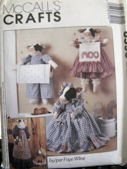 Cow Kitchen Accessories Pattern  Faye Wine - FREE SHIPPING