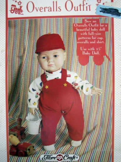Doll Clothes Pattern Overalls Outfit  FCM 320 - FREE SHIPPING