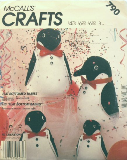 Penguins Flat Bottomed Babies - KC Creations - FREE SHIPPING
