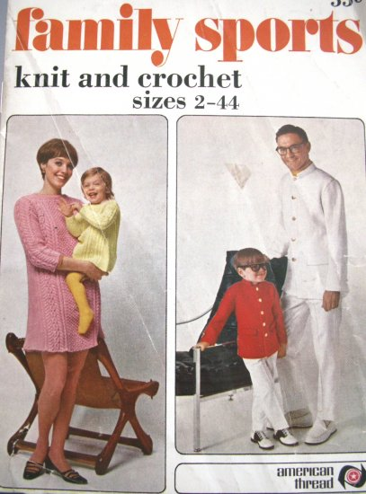 Family Sports Knit & Crochet Star Book No. 219