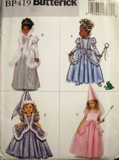 Girls' Princess Costumes Pattern BP419