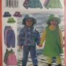 B5717 Girls FLEECE Ensemble pattern Easy  6,7,8 NEW FREE SHIPPING