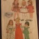 Easter Easy Girls Dress & Pinafore Toddler size 2  Vintage pattern FREE SHIPPING