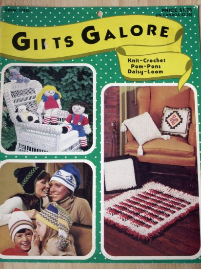 Gifts Galore Knit, Crochet, Daisy Loom Pattern Book 1977 - FREE SHIPPING