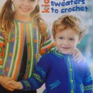 7 Kids Playful Sweaters to Crochet Pattern Book - FREE SHIPPING