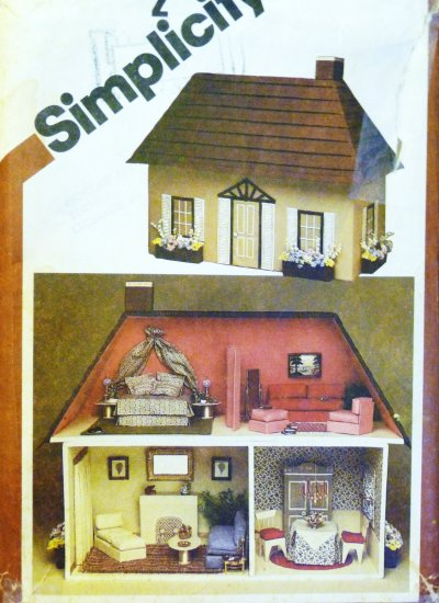 Dollhouse & Furnishing Pattern Vintage S 9821 - FREE SHIPPING