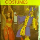 Misses' Belly Dancer & Men's Jester Costume Pattern FREE SHIPPING