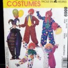 Clown Costume Pattern Adult Size 38-40  FREE SHIPPING