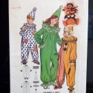 Clown Costume Pattern Child's Size 14  Vintage  FREE SHIPPING