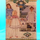 Original Butterick Cabbage Patch Doll Pattern #3086 GIRLS & DOLL MATCHING PATTERN  FREE SHIPPING
