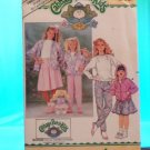 Original Butterick Cabbage Patch Doll Pattern #3996 GIRLS & DOLL MATCHING PATTERN FREE SHIPPING