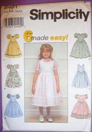 Girls Dresses Pattern S 8491 - FREE SHIPPING