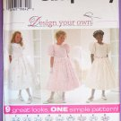 Girls Easter Dresses 9 Variation Pattern Size 7, 8, 10 S7487 FREE SHIPPING