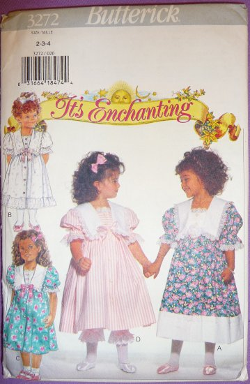 B 3272 Girls Dress & Pantaloons FREE SHIPPING Size 2,3,4 by It's Enchanting Perfect For Easter!
