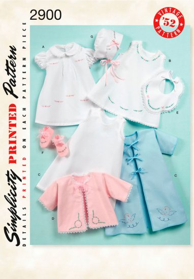 Babies' Layette and Bonnet In Three Sizes - FREE SHIPPING