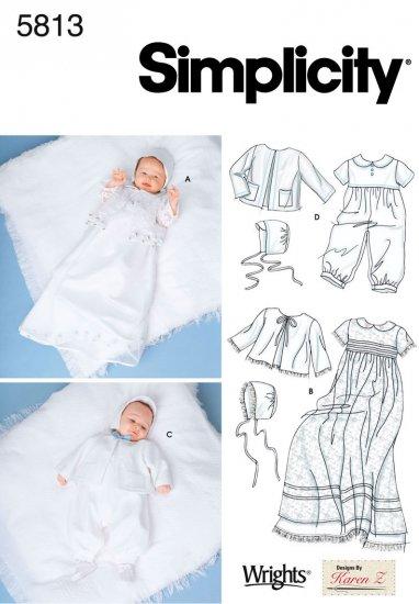 Babies Christening Ensemble Pattern S 5813 - FREE SHIPPING