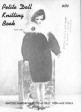 "Two Vintage Virgina Lakin 11.5"" Doll Knitting Books - FREE SHIPPING"