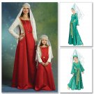 Misses Medieval Dresses and Hat Pattern M 5499 - FREE SHIPPING