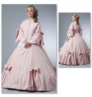 Misses Civil War Costume Pattern B 5543 - FREE SHIPPING
