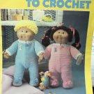 "Sleepwear to Crochet For 16"" Soft Sculpture Dolls - Leisure Arts #451"