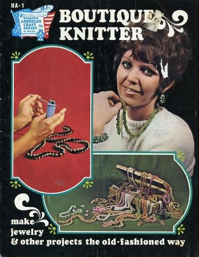 Boutique Knitter Jewelry Pattern & Instruction Book 1972 - FREE SHIPPING
