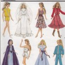 Vintage Barbie Wardrobe Pattern Simplicity 8333 - FREE SHIPPING