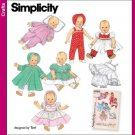 Baby Doll Clothes Pattern Vintage Reprint S 4707 - FREE SHIPPING