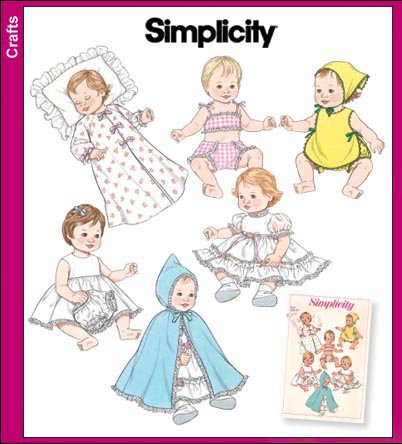 Baby Doll Clothes Pattern Vintage Reprint S 3883 - FREE ...