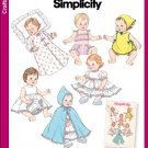 Baby Doll Clothes Pattern Vintage Reprint S 3883 - FREE SHIPPING
