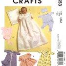 Baby Doll Christening Ensemble & Wardrobe in 2 Sizes M 5553 - FREE SHIPPING