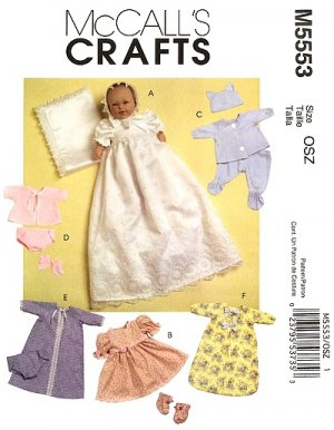 Baby Doll Christening Ensemble &amp; Wardrobe in 2 Sizes M 5553 - FREE SHIPPING