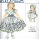 Daisy Kingdom Dress With BABY Doll Clothes Pattern S 9096 - FREE SHIPPING