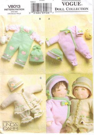 """Vogue 8013 Linda Carr 15"""" Doll Clothes Pattern - FREE SHIPPING"""