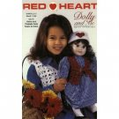 Red Heart Book 1436 Dolly & Me Knit & Crochet Patterns - FREE SHIPPING