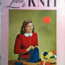 Vintage 1948 Clark's ONT  Learn To Knit Book No. 234 - FREE SHIPPING