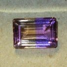 AMETRINE COMBINATION AMETHYST AND CITRINE IN NEAR PERFECT SPLIT EMERALD CUT